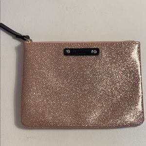 Kate Spade Blush Pink Sparkly Pouch